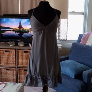 American Eagle Outfitters gray midi dress sz S